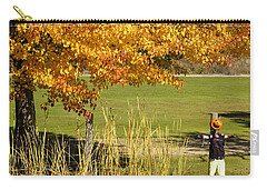Carry-all Pouch featuring the photograph Autumn At The Schoolground by Mick Anderson