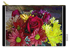 Carry-all Pouch featuring the digital art Autumn Boquet by Debbie Portwood