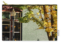 Carry-all Pouch featuring the photograph Autumn Detail In Old Town Grants Pass by Mick Anderson