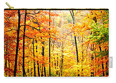 Carry-all Pouch featuring the photograph Autumn Forest by Randall Branham