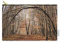 Carry-all Pouch featuring the photograph Autumn In The Woods by Penny Meyers