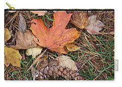 Carry-all Pouch featuring the photograph Autumn Leaves by Donna  Smith