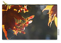 Carry-all Pouch featuring the photograph Autumn Maple by Mick Anderson