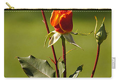 Carry-all Pouch featuring the photograph Autumn Rose by Mick Anderson