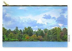Carry-all Pouch featuring the photograph Autumn's Beauty At Hoyt Lake by Michael Frank Jr