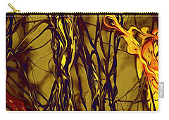 Shapes Of Fire Carry-all Pouch by Leo Symon