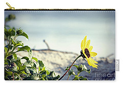 Awaiting Daisy Carry-all Pouch by Janie Johnson