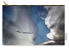 Carry-all Pouch featuring the photograph B R E A T H E by Vicki Ferrari