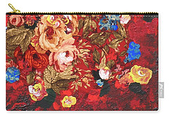 Carry-all Pouch featuring the painting Baba's Garden Lg by Alys Caviness-Gober
