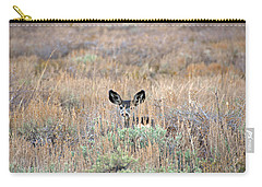 Carry-all Pouch featuring the photograph Babe In Hiding by Lynn Bauer