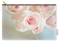 Baby Pink Roses Carry-all Pouch by Lyn Randle