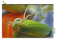Carry-all Pouch featuring the photograph Back Off by Debbie Portwood