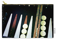 Carry-all Pouch featuring the photograph Backgammon Anyone by Nina Prommer