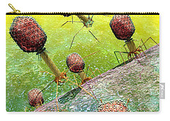 Bacteriophage T4 Virus Group 2 Carry-all Pouch by Russell Kightley