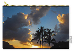 Carry-all Pouch featuring the photograph Bali Hai Sunset by Lynn Bauer