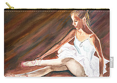Carry-all Pouch featuring the painting Ballet Dancer by Clara Sue Beym