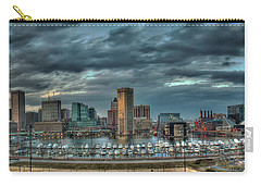 Carry-all Pouch featuring the photograph Baltimore Inner Harbor Pano by Mark Dodd