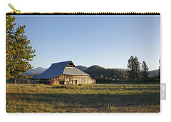 Carry-all Pouch featuring the photograph Barn In The Applegate by Mick Anderson