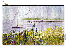Carry-all Pouch featuring the painting Barnegat Sails by Clara Sue Beym