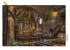Baroque Church In Savoire France 2 Carry-all Pouch by Clare Bambers