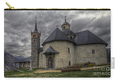 Baroque Church In Savoire France 6 Carry-all Pouch by Clare Bambers
