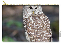 Carry-all Pouch featuring the photograph Barred Owl by Les Palenik