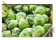 Basket Of Brussels Sprouts Carry-all Pouch by Elena Elisseeva