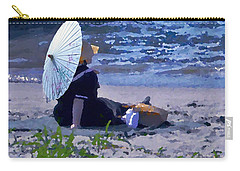Bather By The Bay - Square Cropping Carry-all Pouch