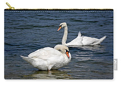 Carry-all Pouch featuring the photograph Bathing Beauties by Lynda Lehmann