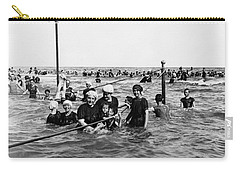 Bathing In The Gulf Of Mexico - Galveston Texas  C 1914 Carry-all Pouch