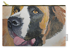 Carry-all Pouch featuring the painting Baxter by Norm Starks