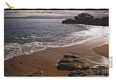 Beach At Monteray Bay Carry-all Pouch by Darcy Michaelchuk
