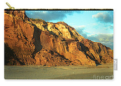Carry-all Pouch featuring the photograph Beach Cliff At Sunset by Mark Dodd