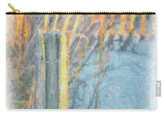 Carry-all Pouch featuring the photograph Beach Fence by Lynne Jenkins