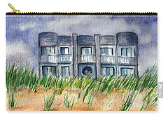 Carry-all Pouch featuring the painting Beach House by Clara Sue Beym
