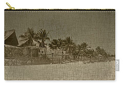 Beach Huts In A Tropical Paradise Carry-all Pouch