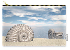 Carry-all Pouch featuring the digital art Beach Of Shells by Phil Perkins