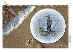 Beached Heron Carry-all Pouch by Sue Stefanowicz