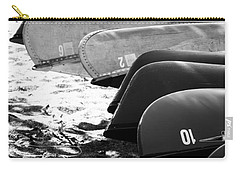 Carry-all Pouch featuring the photograph Beached Kayaks by Julia Wilcox