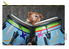 Carry-all Pouch featuring the photograph Bear And His Drums At Walt Disney World by Thomas Woolworth