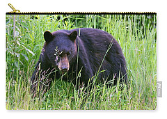 Bear On The Hillside Carry-all Pouch by Myrna Bradshaw