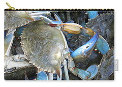 Beaufort Blue Crabs Carry-all Pouch by Patricia Greer