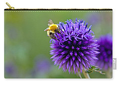 Bee On Garden Flower Carry-all Pouch