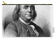 Carry-all Pouch featuring the photograph Benjamin Franklin by International  Images