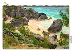 Carry-all Pouch featuring the photograph Bermuda Hidden Beach by Verena Matthew