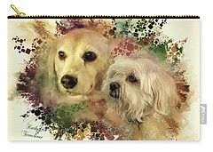 Carry-all Pouch featuring the digital art Best Friends by Kathy Tarochione