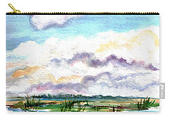 Carry-all Pouch featuring the painting Big Clouds by Clara Sue Beym