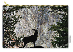 Carry-all Pouch featuring the photograph Big Horn Sheep Silhouette by Dan Friend