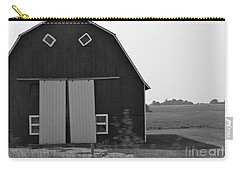 Big Tooth Barn Black And White Carry-all Pouch