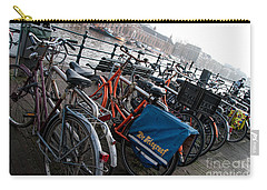 Carry-all Pouch featuring the digital art Bikes In Amsterdam by Carol Ailles
